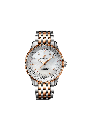 NAVITIMER AUTOMATIC 35Stainless Steel & 18k Rose Gold - Mother-Of-Pearl
